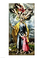 St. Joseph and the Christ Child Fine Art Print