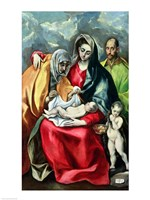 The Holy Family with St.Elizabeth Fine Art Print