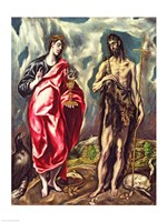 St John the Evangelist and St. John the Baptist Fine Art Print