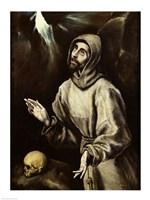 St. Francis of Assisi Receiving the Stigmata Fine Art Print