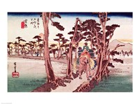 Fuji from Yoshiwara Fine Art Print
