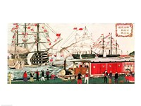 Commodore Perry's Gift of a Railway to the Japanese in 1853 Fine Art Print