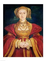 Portrait of Anne of Cleves Fine Art Print