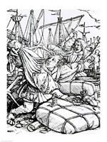 Death and the Merchant Fine Art Print