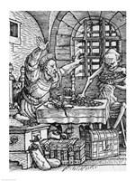 Death and the Rich Man Fine Art Print