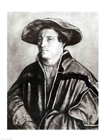 Portrait of a man with a red hat, c.1530 Fine Art Print
