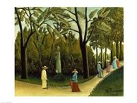 The Monument to Chopin in the Luxembourg Gardens, 1909 Fine Art Print