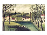 Landscape with a Fisherman Fine Art Print