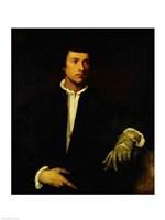 The Man with a Glove, c.1520 Fine Art Print