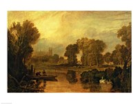 Eton College from the River Fine Art Print