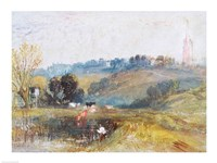 Landscape near Petworth, c.1828 Fine Art Print