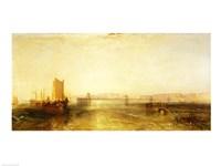 Brighton from the Sea, c.1829 Fine Art Print