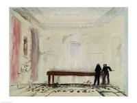 Billiard players at Petworth House, 1830 Fine Art Print