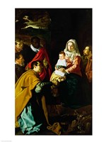Adoration of the Kings, 1619 Fine Art Print