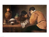 Two Men at Table Fine Art Print