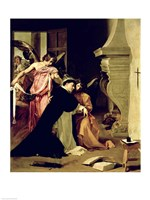 Temptation of St.Thomas Aquinas Fine Art Print