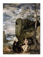 St. Anthony the Abbot and St. Paul the First Hermit, c.1642 Fine Art Print