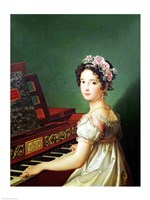 The Artist's Daughter at the Clavichord Fine Art Print