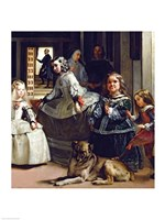 Las Meninas or The Family of Philip IV, c.1656, Detail Fine Art Print