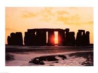 Stonehenge, Winter Solstice Framed Print