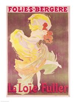 Poster advertising Loie Fuller Fine Art Print