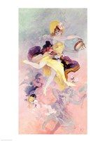 Dancer with a Basque Tambourine Fine Art Print