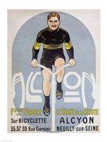 Poster depicting Francois Faber on his Alcyon bicycle Fine Art Print