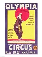 Bertram Mills circus poster, 1922 Fine Art Print