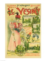 Poster for the Chemins de Fer de l'Ouest to Le Vesinet Fine Art Print