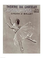 Poster for the 'Saison Russe' at the Theatre du Chatelet, 1909 Fine Art Print