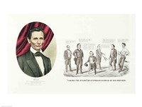 Hon. Abraham Lincoln, 16th President of the United States, 1860 Fine Art Print