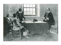 Sir William Berkeley Surrendering to the Commissioners of the Commonwealth, illustration from 'In Washington's Day' Fine Art Print
