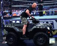 Stone Cold Steve Austin WrestleMania XXVII Action Fine Art Print