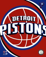 Detroit Pistons Team Logo Framed Print