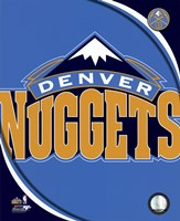 Denver Nuggets Team Logo Framed Print