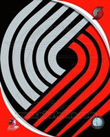 Portland Trail Blazers Team Logo Framed Print
