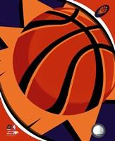 Phoenix Suns Team Logo Framed Print