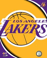 Los Angeles Lakers Team Logos Fine Art Print