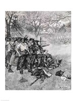 Lexington Green - 'If they want war, it may as well begin here' Fine Art Print