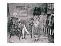 Old-Time School in Pennsylvania Fine Art Print