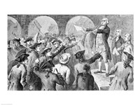 John Lamb speaking at the Sons of Liberty Meeting at New York City Hall Concerning the Landing of British Tea in New York Fine Art Print