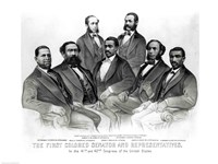 The First Colored Senator and Representatives Fine Art Print