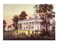 Washington's Home, Mount Vernon, Virginia Fine Art Print