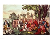 William Penn's Treaty with the Indians Fine Art Print