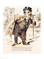 Caricature of Chester Alan Arthur, c.1883 Fine Art Print