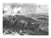 Battle of Gettysburg - Final Charge of the Union Forces at Cemetery Hill, 1863 Fine Art Print