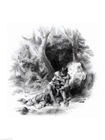 Illustration from 'The Last of the Mohicans Fine Art Print