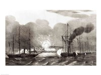 Naval Bombardment of Vera Cruz Fine Art Print