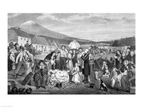 The Eviction: A Scene from Life in Ireland Fine Art Print
