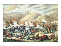 The Battle of Little Big Horn, June 25th 1876 Fine Art Print